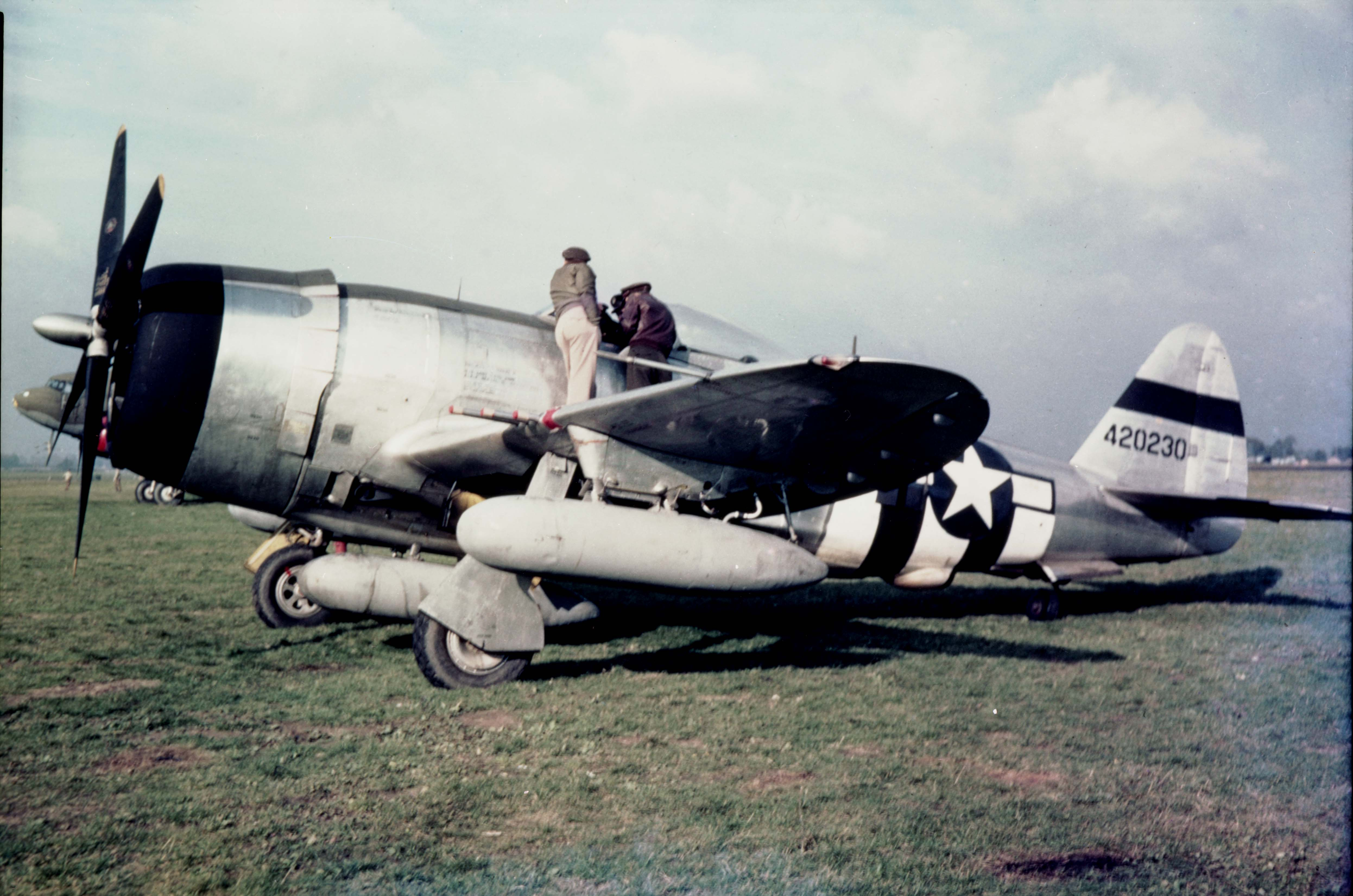 Credit for the first Messerschmitt Me 262 jet fighter to be 'brought down'  in combat belongs to Joseph Myers and Manford Crory of the P-47D-equipped 78 th ...